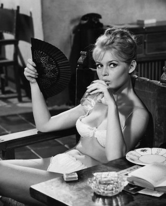 Brigitte Bardot circa 1958.