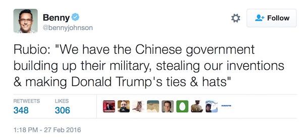rubio-trump-china-tweet
