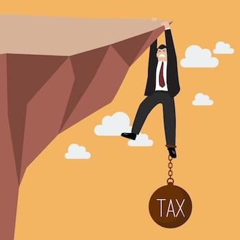 tax-burden-businessman-cliff
