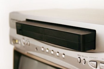 VCR with cassette tape