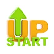 Startup up arrow symbol isolated