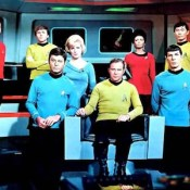 Star Trek crew, original series, season 3.