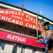 Chicago, usa - august 12, 2015: the famous signage at Wrigley Field
