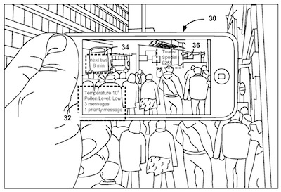 Fig. 2 of U.S. Patent No. 9,171,384, showing an augmented reality application according to conventional techniques.