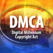 Speech bubble illustration of information technology acronym abbreviation term definition dmca digital millennium copyright act