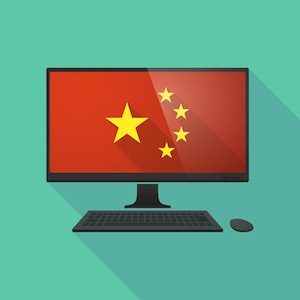 Chinese flag computer