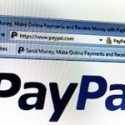 PayPal start page
