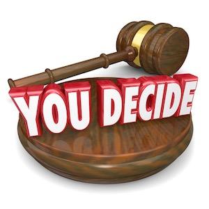 You decide gavel