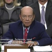 Wilbur Ross, Commerce Secretary Nominee, at his confirmation hearing.