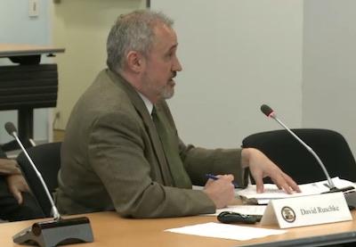 PTAB Chief Judge David Ruschke addressing PPAC on May 4, 2017.