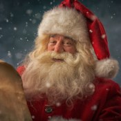 Santa Claus reading