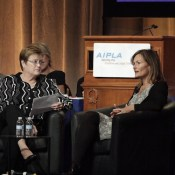 Lisa Jorgensen (Left) with Judge Kara Stoll of the U.S. Court of Appeals for the Federal Circuit (right).