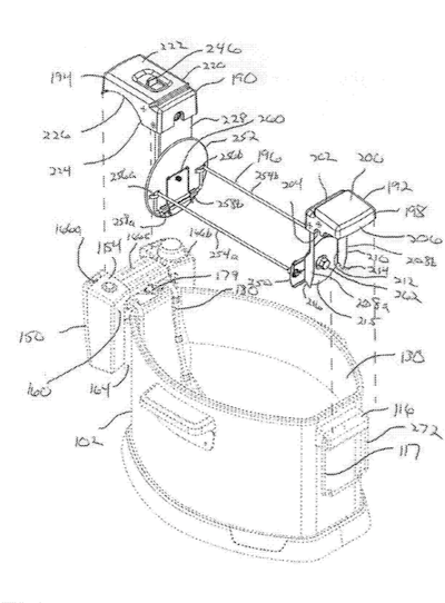 Fig. 9a from U.S. Patent Application No. 20180262418, titled Rotisserie Turkey Deep Fryer.
