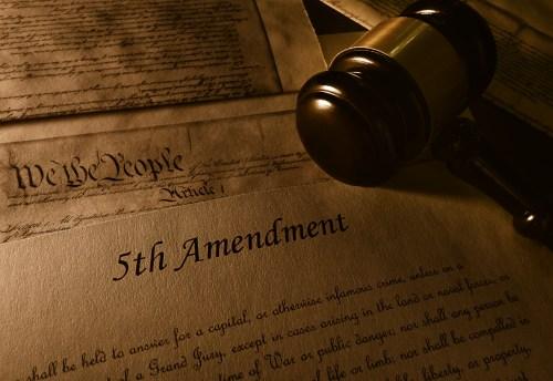 Fifth Amendment - https://depositphotos.com/201240394/stock-photo-text-fifth-amendment-constitution-gavel.html