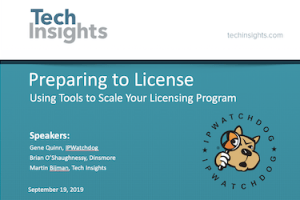 Preparing to License: Using tools to Scale Your Licensing Program – Sept. 19, 2019