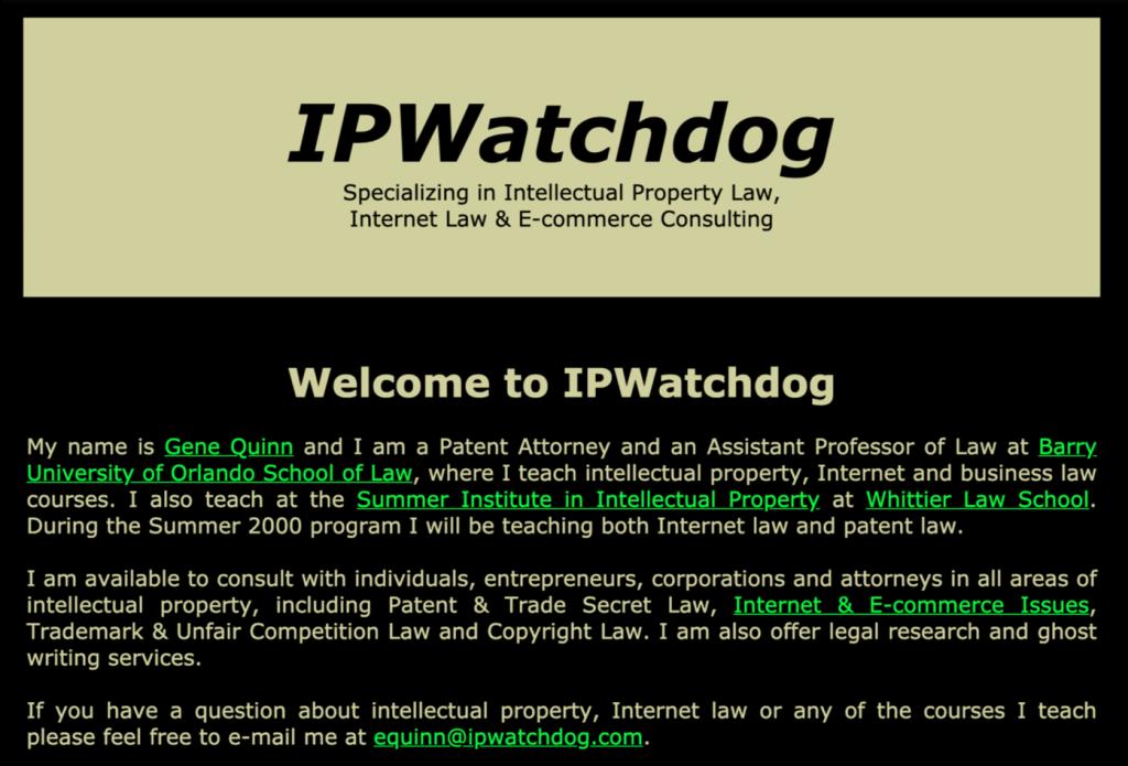IPWatchdog 1999