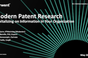 Modern Patent Research: Capitalizing on Information In Your Organization – May 26, 2020