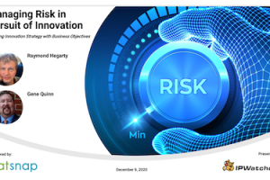 PatSnap – Managing Risk in Pursuit of Innovation – Dec 9, 2020