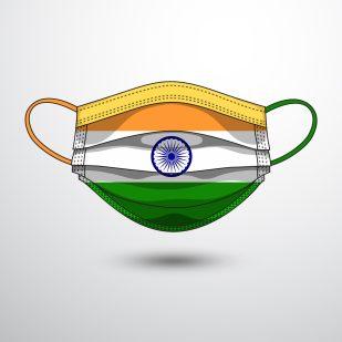 India, COVID-19 - https://depositphotos.com/362603228/stock-illustration-medical-mask-national-flag-india.html