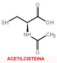 Resultado de imagen de acetilcisteína antidoto paracetamol