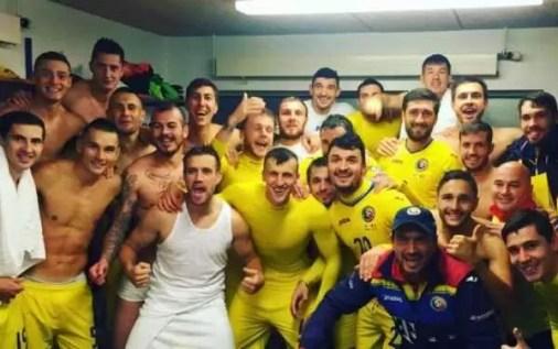 Bucuria tricolorilor după ultimul meci cu Insulele Feroe