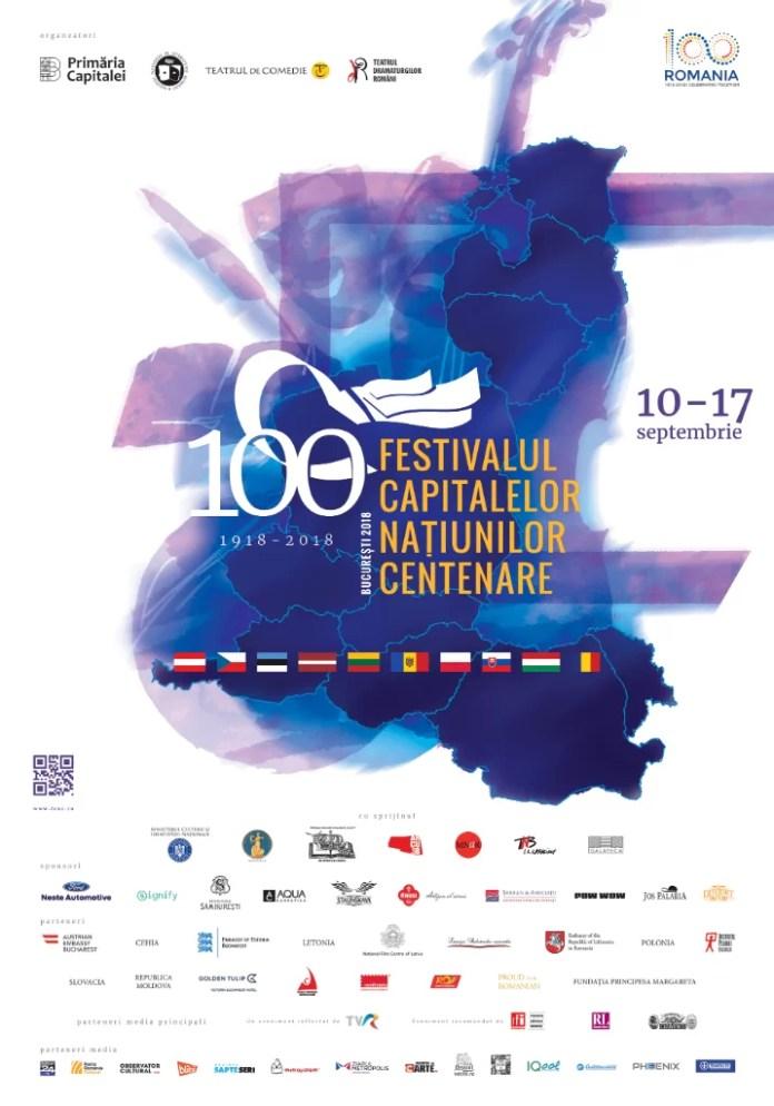 Festivalul Capitalelor Națiunilor Centenare între 10-17 septembrie, la București