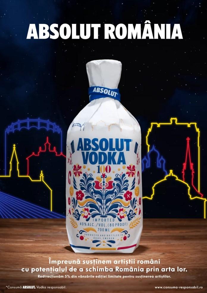 ABSOLUT se îmbracă în primul design de inspirație românească