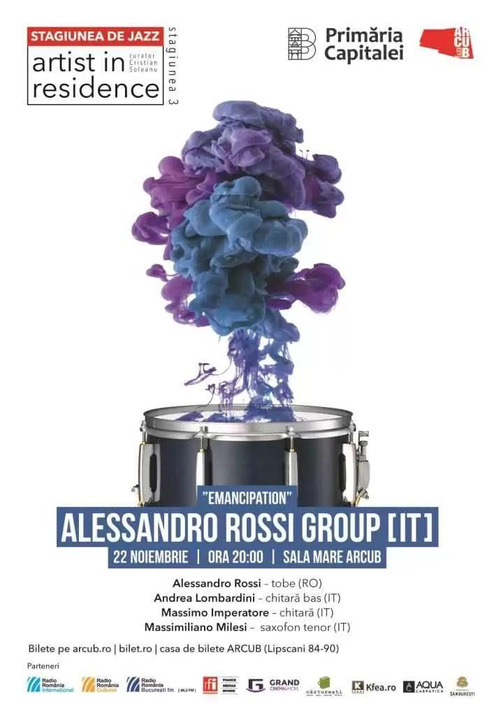 Concert de jazz contemporan cu ALESSANDRO ROSSI GROUP și EMANCIPATION la ARCUB
