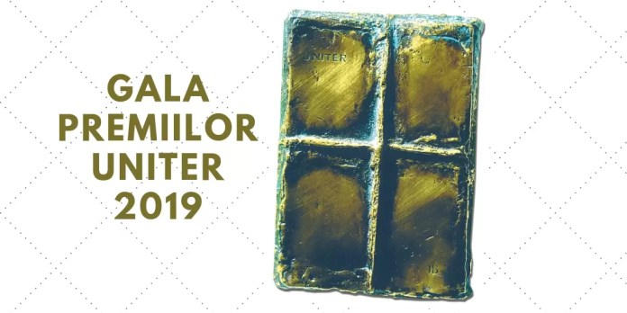 afis Gala Premiilor UNITER 2019