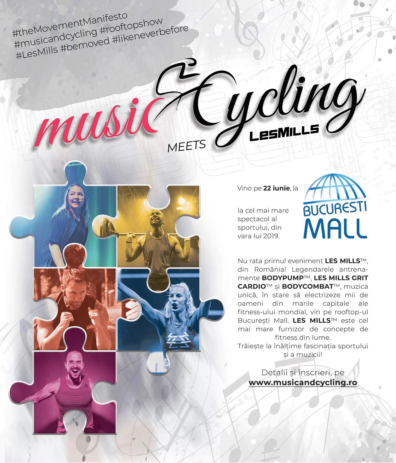 Visual eveniment Music and Cycling_22 iunie la București Mall-Vitanafiș