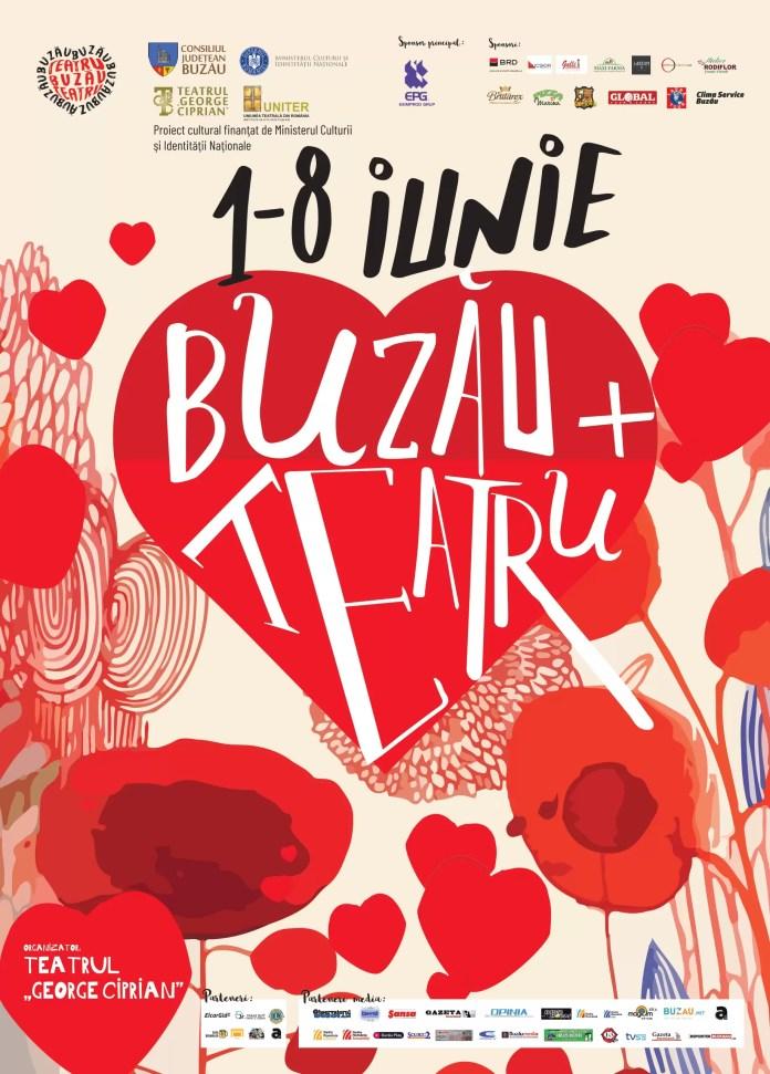 Festival BUZĂU / IUBEȘTE / TEATRU afi;