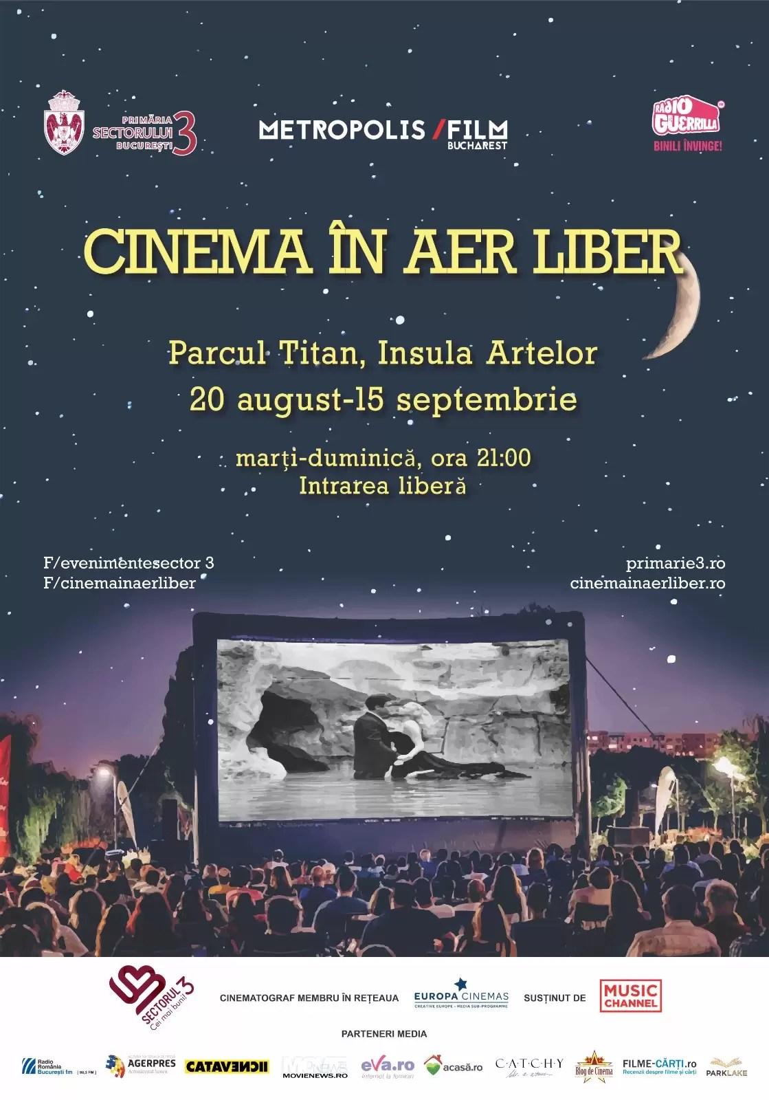 Cinema în aer liber afis