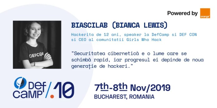DefCamp - Bianca Lewis