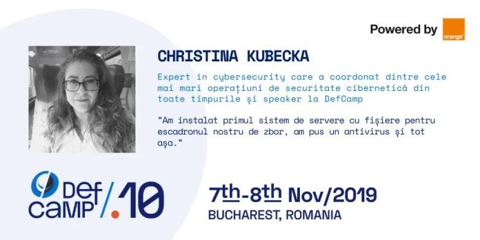 Christina Kubecka DefCamp