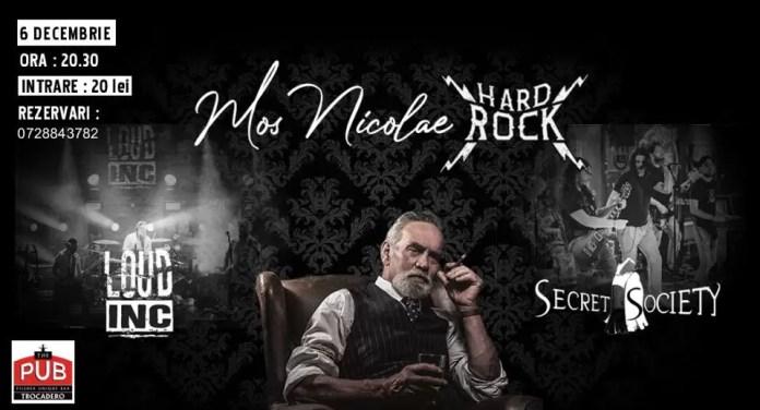 MOŞ NICOLAE Hard Rock, CU LOUD INC. ŞI SECRET SOCIETY afiș