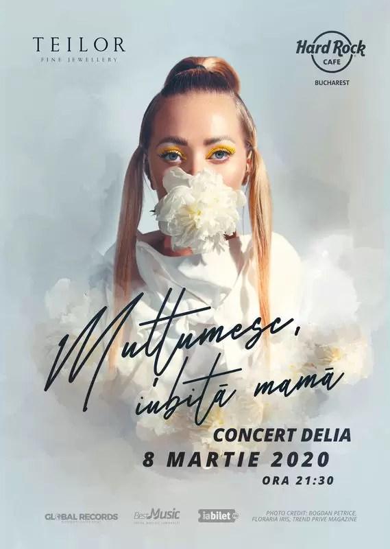 concert Delia pe 8 martie