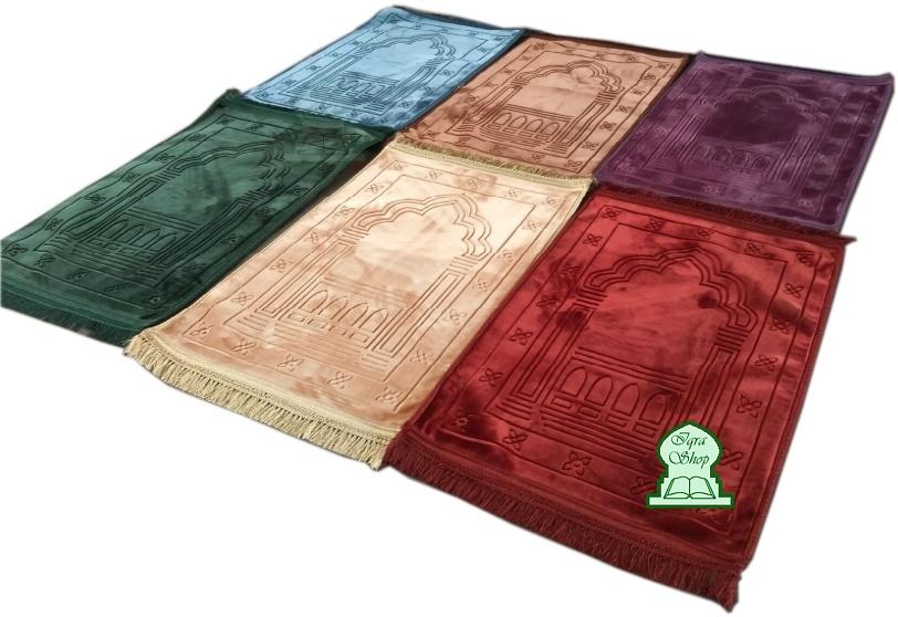 lot de 2 tapis de priere ultra confortables et ultra doux sajjada grande taille 80 x 120 cm avec motifs