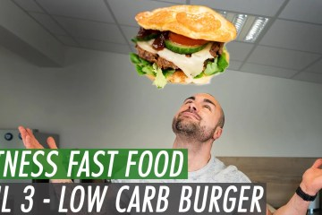 Low Carb Burger selbstgemacht | Fitness Fast Food