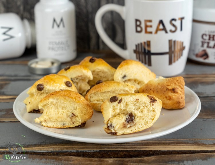 Protein Scones | Gesunde Chocolate Chips Vanilla Scones