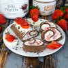 Chocolate Strawberry Cheesecake Omelette-Rolle