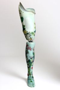 Floral leg photographed by Rosemary Williams