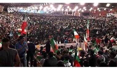 Iraniernas stora manifestation för frihet och demokrati i Iran