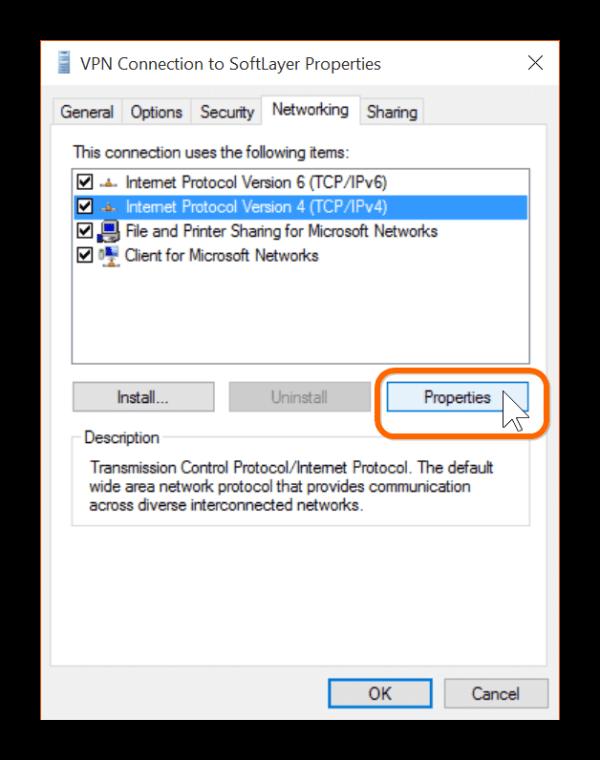 Split Tunneling on Windows 10 VPN Connections