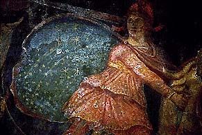 Mithras - temple fresco in Marino, Italy. 2nd Century A.D.