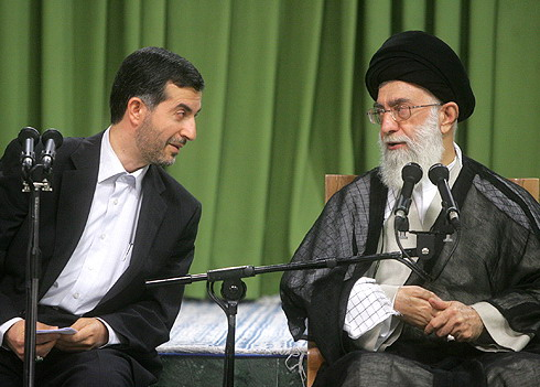 Mashaee paying respect to Ayatollah Khamenei during a meeting of Cabinet with the Supreme Leader. (Photo Credit: Khamenei.ir)