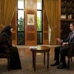 Screen Shot from Syrian President Bashar Al-Assad interview with Al-Manar TV.