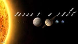 "Prague, CZECH REPUBLIC:  An artist's rendition shows the solar system with 12 planets, including three new ones to be added if astronomers meeting in the Czech capital approve a new planetary definition, the conference organizer said 16 August 2006. The proposal before the 26th general assembly of the International Astronomical Union distinguishes between eight classical planets and three bodies including Pluto in a new and growing category called ""plutons"" - Pluto-like objects - plus a former asteroid, Ceres, the IAU said. In July 2005 a US team of astronomers announced that Pluto is much smaller than an enigmatic object, 2003 UB313, which its discoverers claim is the solar system's 10th planet, dubbed Xena, some 15 billion kilometres (nine billion miles) from Earth. The IAU conference will last until August 25.     (Photo credit should read IAU/AFP/Getty Images)"