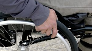 taking care of disabled person