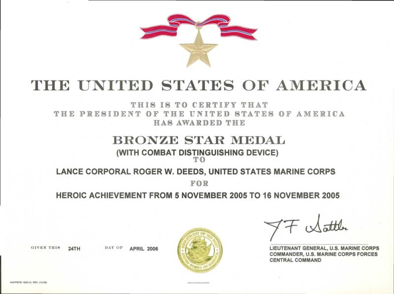 Citation Unit Medal Meritorious