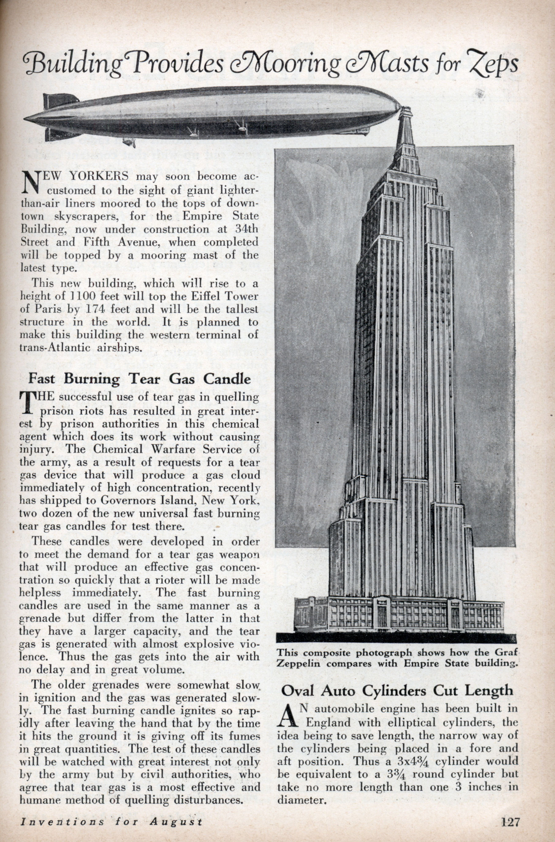 The Hindenburg Flies Past The Empire State Building Over